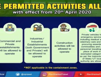 जानिए 20 अप्रैल 2020 से कौन कौन से क्षेत्र खुलने जा रहे है