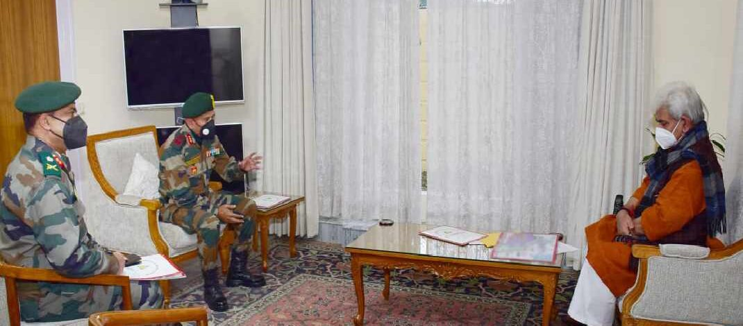 Jammu & Kashmir: Commander 9 Corps, GoC 26 Div call on Lt Governor