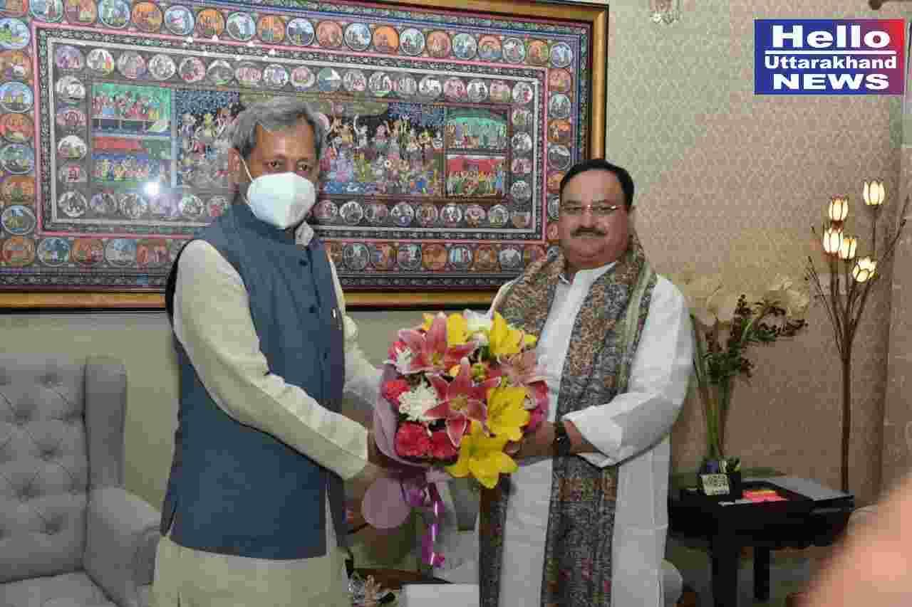 मुख्यमंत्री तीरथ सिंह रावत ने नई दिल्ली में की प्रधानमंत्री नरेन्द्र मोदी से भेंट, 18 वर्ष की आयु से ऊपर वाले समस्त भारतीयों का कोरोना टीकाकरण मुफ़्त किए जाने पर प्रधानमंत्री का किया आभार व्यक्त 2