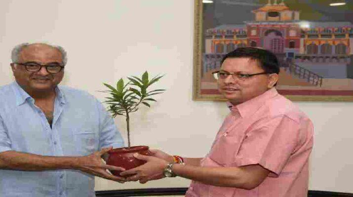 Uttarakhand: मुख्यमंत्री पुष्कर सिंह धामी से फिल्म निर्माता बोनी कपूर (Boney Kapoor) ने की भेंट, प्रदेश में फिल्मांकन के संबंध में की चर्चा 2